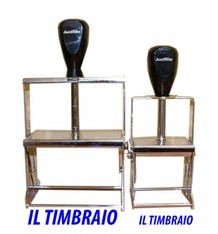 TIMBRO PROFESSIONALE IN METALLO - PIASTRA 127X65 mm
